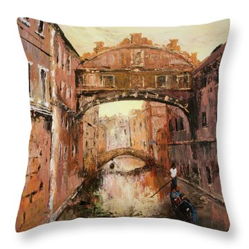 The Bridge Of Sighs Venice Italy Throw Pillow