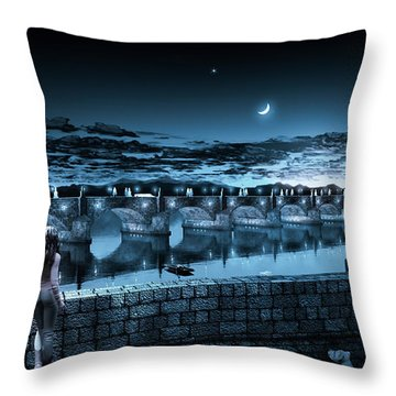 The Bridge Of Yesterday Throw Pillow