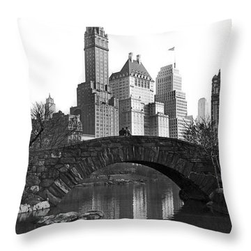 The Bridge Over Duck Pond  Throw Pillow