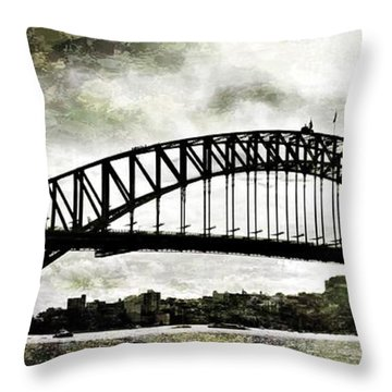 The Bridge Spattled Throw Pillow