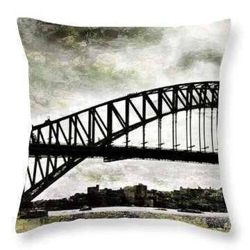 The Bridge Spattled Throw Pillow