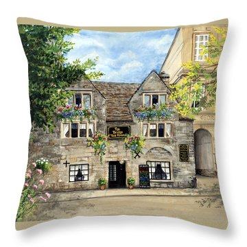 The Bridge Tea Rooms Throw Pillow
