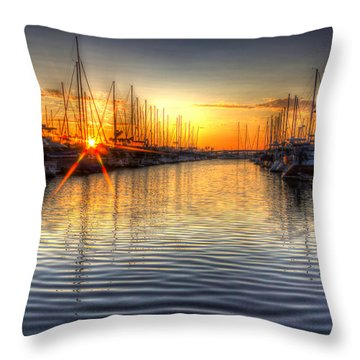 The Brightest Star In The Sky Throw Pillow by Heidi Smith