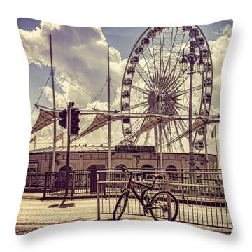 Throw Pillow featuring the photograph The Brighton Wheel by Chris Lord
