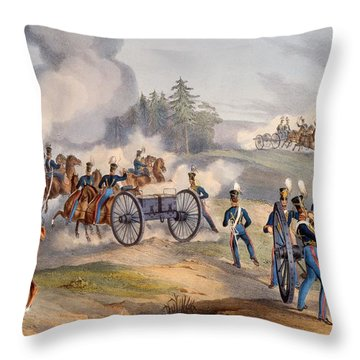The British Royal Artillery Preparing Throw Pillow