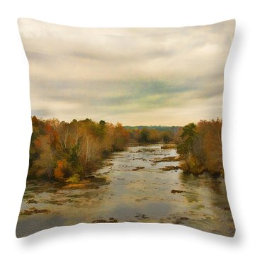 The Broad River Throw Pillow