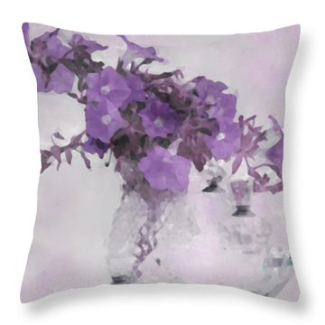 The Broken Branch - Digital Watercolor Throw Pillow by Sandra Foster