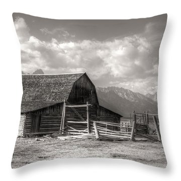 The Broken Fence Throw Pillow by Kathleen Struckle