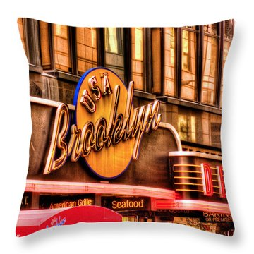 The Brooklyn Diner And Cafe 001 Throw Pillow