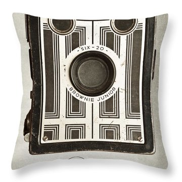 The Brownie Junior Six-20 Camera Throw Pillow