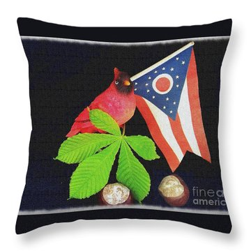 The Buckeye State Throw Pillow