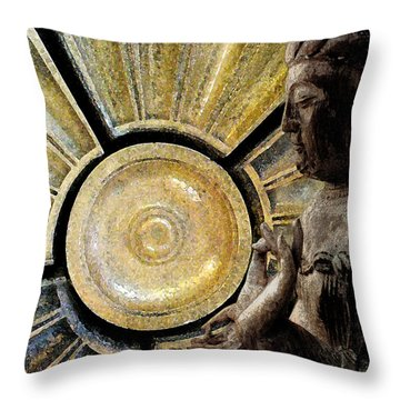 the Buddha  c2014  Paul Ashby Throw Pillow