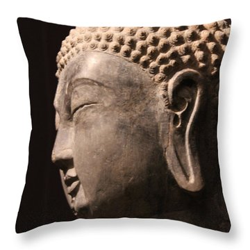 Throw Pillow featuring the photograph The Buddha 2 by Lynn Sprowl