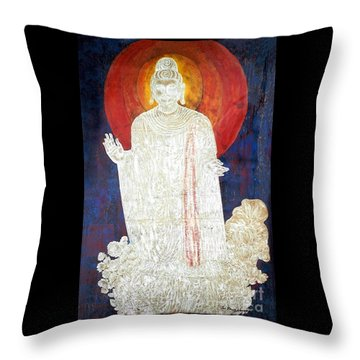 Throw Pillow featuring the painting The Buddha's Light by Fei A