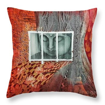 The Buddhist Color Throw Pillow