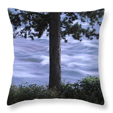 The Bulkley River Throw Pillow