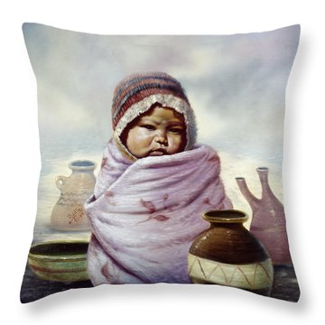 The Bundle Throw Pillow by Gregory Perillo