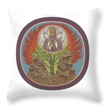 Throw Pillow featuring the painting The Burning Bush 249 by William Hart McNichols