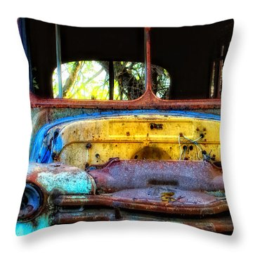 The Bus Stops Here Throw Pillow