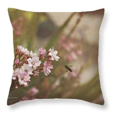 The Busy Bee Throw Pillow by Angela A Stanton