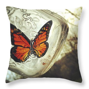 The Butterfly Throw Pillow