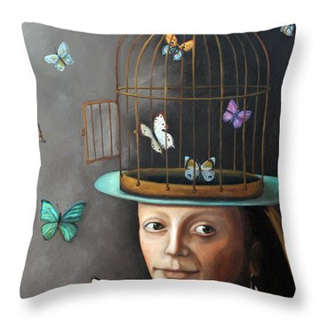 The Butterfly Keeper 1 Throw Pillow by Leah Saulnier The Painting Maniac