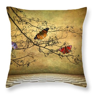 The Butterfly Room Throw Pillow
