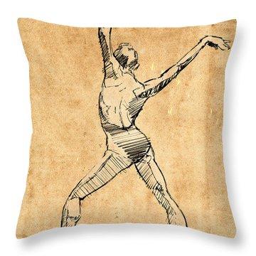 Tango Drawings Throw Pillows