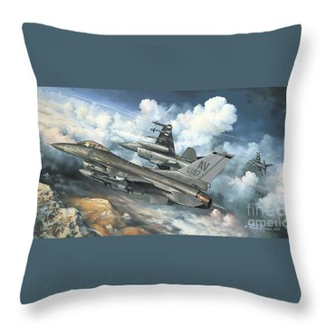 The Buzzard Boys From Aviano Throw Pillow by Randy Green