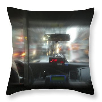 The Cab Ride Throw Pillow by Mike McGlothlen