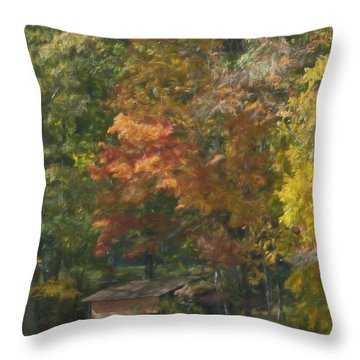 The Cabin At Cherry Brook Throw Pillow