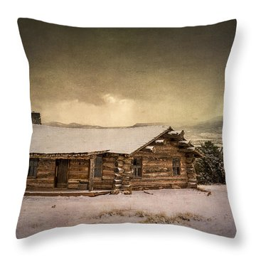 The Cabin At Ghost Ranch Throw Pillow