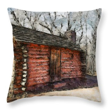 The Cabin Throw Pillow by Ernie Echols