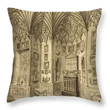The Cabinet, Engraved By T. Morris Throw Pillow by English School
