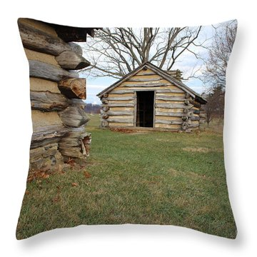 The Cabins Throw Pillow