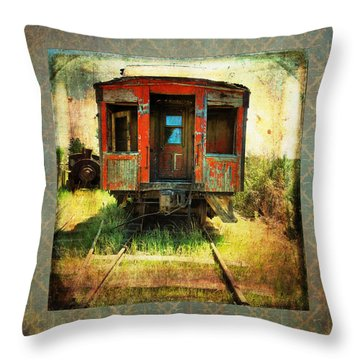 The Caboose Throw Pillow