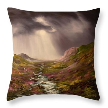 The Cairngorms In Scotland Throw Pillow