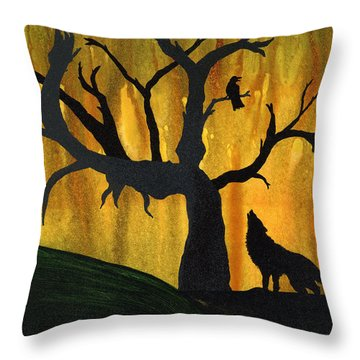 The Call And Response Of The Wild Throw Pillow by Jim Stark