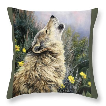 The Call Throw Pillow by Lucie Bilodeau