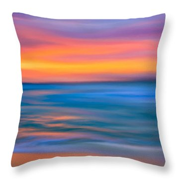 Throw Pillow featuring the digital art The Call Of Distant Seas by Mark E Tisdale