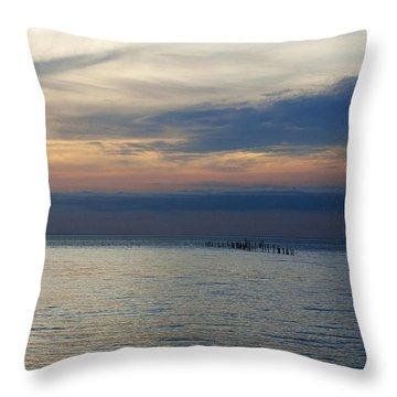 The Calm Throw Pillow by Elsa Marie Santoro