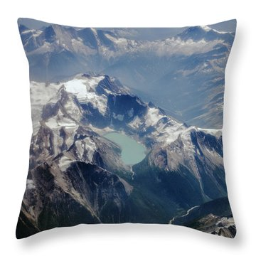 Throw Pillow featuring the photograph The Canadian Rockies by Ross G Strachan