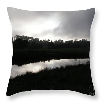 The Canal Throw Pillow by Bev Conover