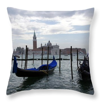 The Canal Throw Pillow by Debi Demetrion