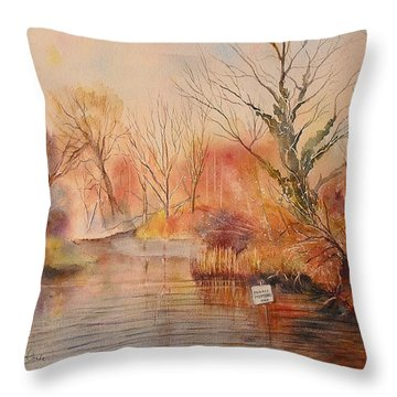 The Canal West Hythe Throw Pillow