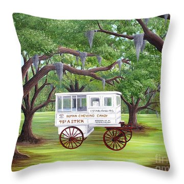 The Candy Cart Throw Pillow