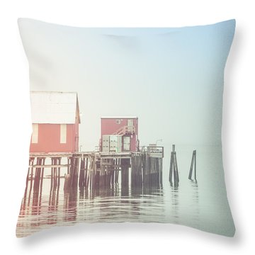 The Cannery In Fog Throw Pillow