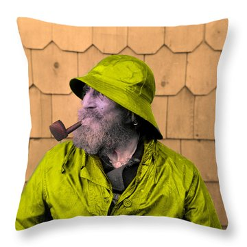 The Cape Ann Fisherman Throw Pillow by Bill Cannon