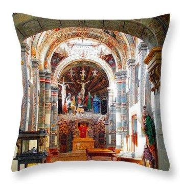Throw Pillow featuring the photograph The Capilla Del Santo Sepulcro by John  Kolenberg