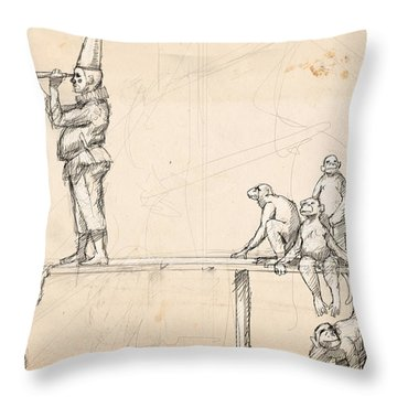 The Captain Throw Pillow by H James Hoff